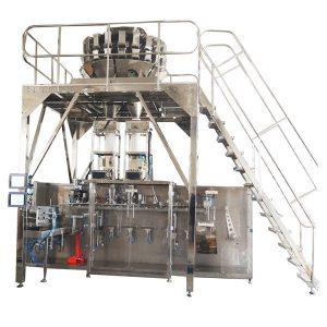 Horizontalna unapred napravljena mašina za pakovanje s više glava vaga za granule
