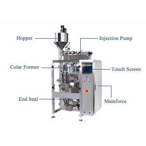 Vertikalna forma Napuniti mašinu za sečenje sa pištoljskim punjačem za tečnost